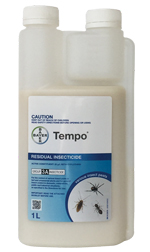Tempo chemicals to control weeds and pests